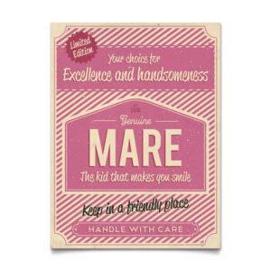 Geboortebord Mare Roze