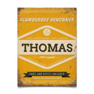 Geboortebord Thomas Geel