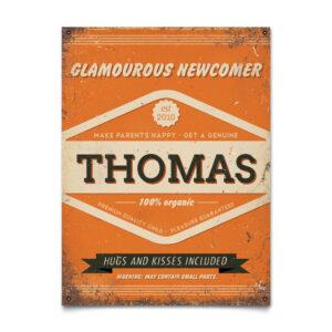 Geboortebord Thomas Oranje