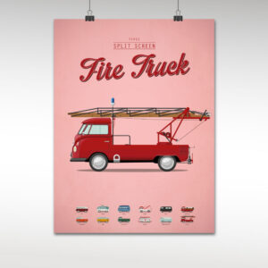 split screen fire truck