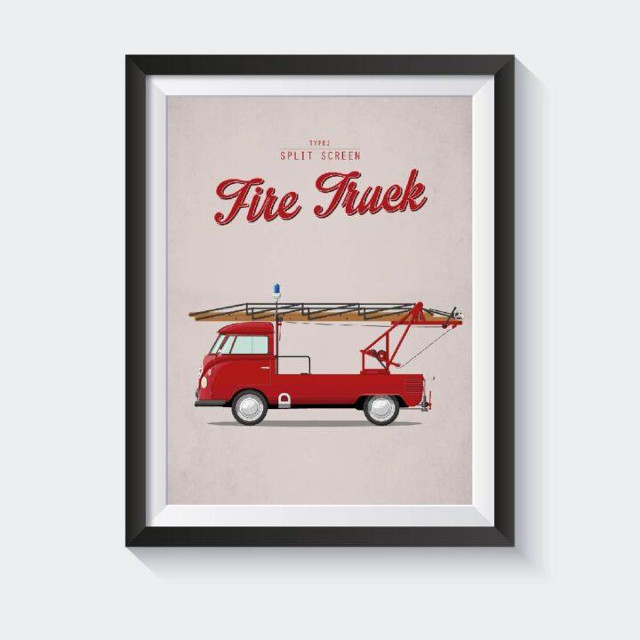 Firetruck koenmeloen t1 type2 poster
