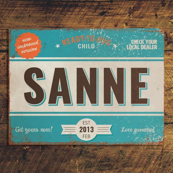 mijke-vintageblauw-wit-oranje-bruin koenmeloen naamborden