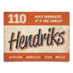 Naambord-Hendriks-voordeur-oranje-wit-zwart-koenmeloen