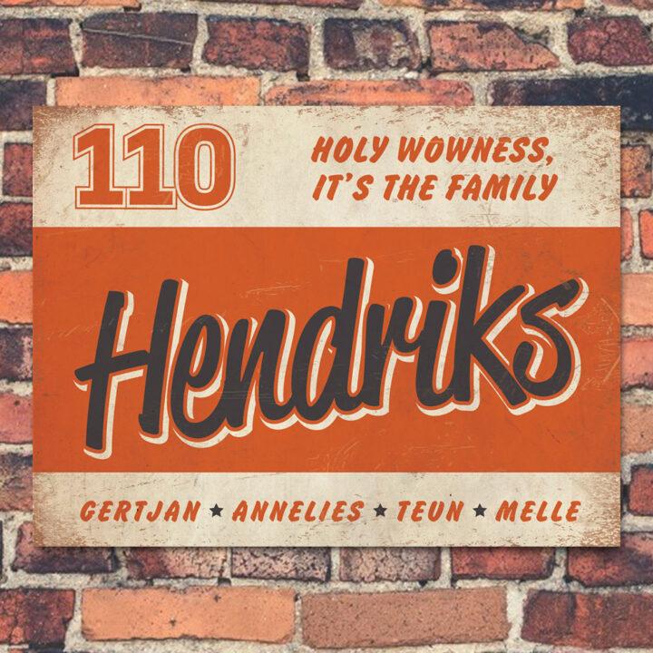 Naambord-Hendriks-voordeur-wit-oranje-zwart-koenmeloen