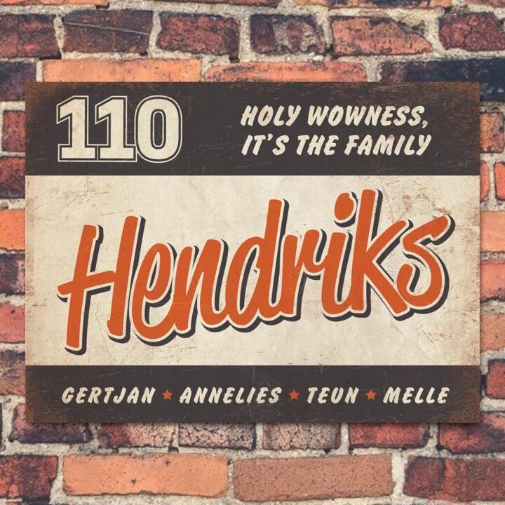 Naambord-Hendriks-voordeur-zwart-oranje-wit-koenmeloen
