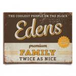 naambord-Edens-bruin-geel van koenmeloen