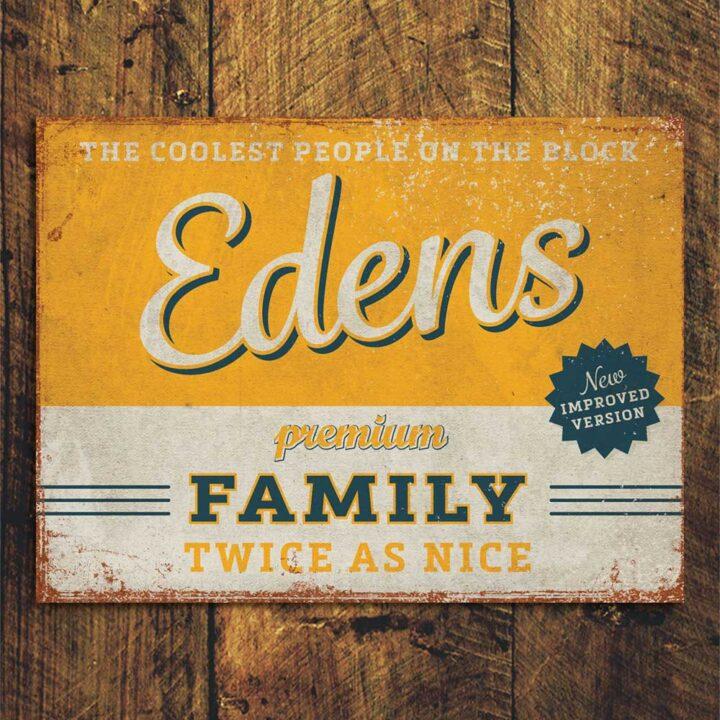 naambord-Edens-geel-blauw van koenmeloen