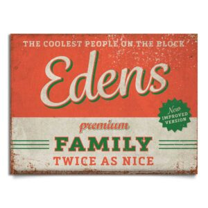 naambord-Edens-groen-rood van koenmeloen