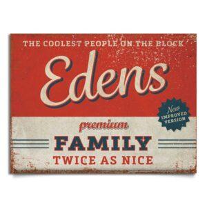 naambord-Edens-rood-blauw van koenmeloen