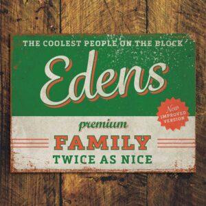 naambord-Edens-rood-groen van koenmeloen