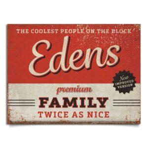 naambord-Edens-rood-zwart van koenmeloen