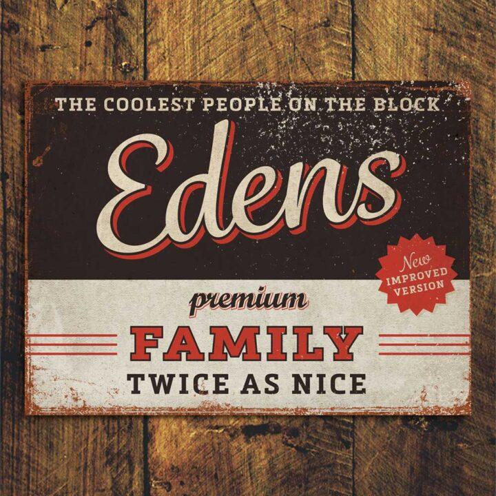 naambord-Edens-zwart-rood van koenmeloen