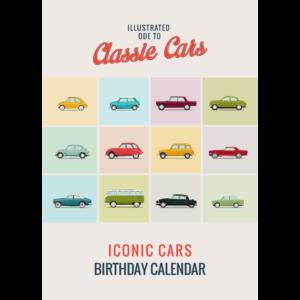 Iconic classic cars verjaardagkalender