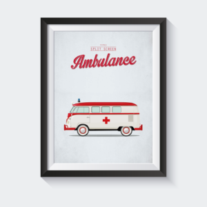 Split screen ambulance