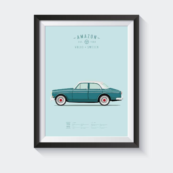 koenmeloen-ode-to-classic-cars poster volvo amazon