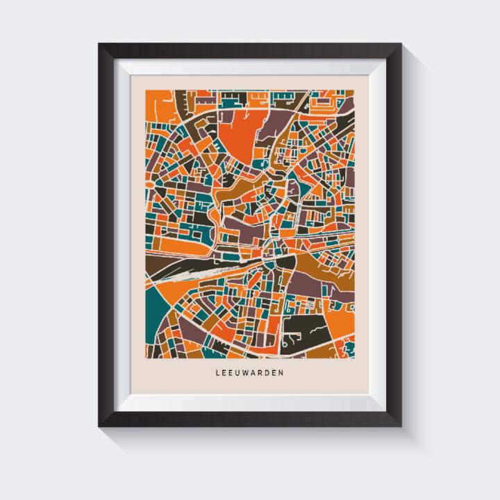 mockup-kaart-leeuwarden-koenmeloen-bruin-oranje