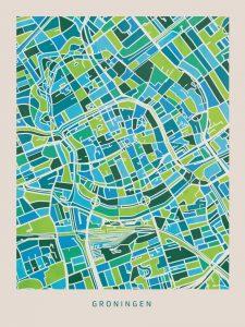 poster-groningen-groen-blauw-kaart-koenmeloen