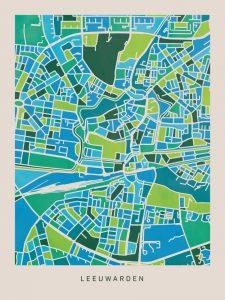 kaart-leeuwarden-koenmeloen-groen-blauw