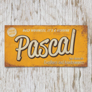 Naambord Kinderkamer Pascal Geel