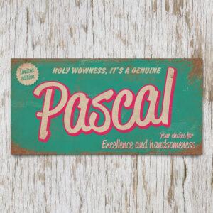 Naambord Kinderkamer Pascal Mint Roze