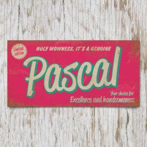 Naambord Kinderkamer Pascal Roze Mint