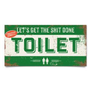 Bord Toilet Groen Wit