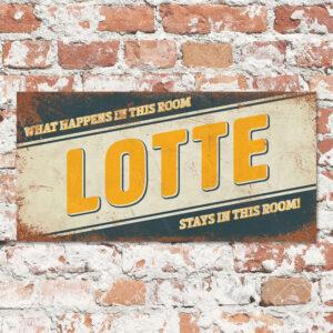 Naambord Kinderkamer Lotte Blauw Geel Wit