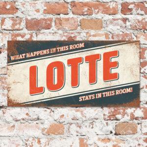 Naambord Kinderkamer Lotte Blauw Rood Wit