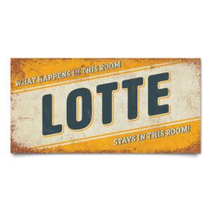 Naambord-Lotte-geel-blauw-wit