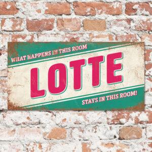 Naambord Kinderkamer Lotte Mint Roze Wit