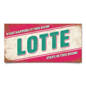 Naambord Kinderkamer Lotte Roze Mint Wit