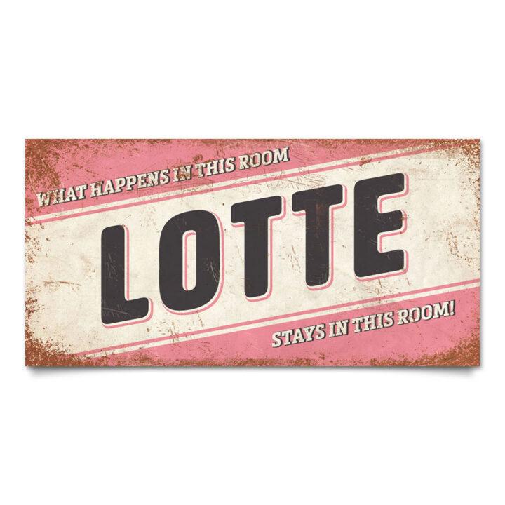 Naambord-Lotte-roze-zwart-wit-koenmeloen