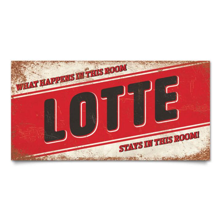 Naambord-Lotte-wit-rood-zwart