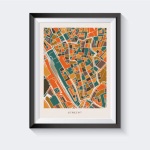 Poster Utrecht Stad - Oranje Bruin