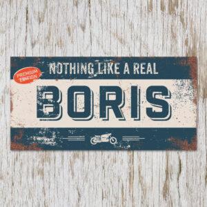 Naambord Kinderkamer Boris Blauw