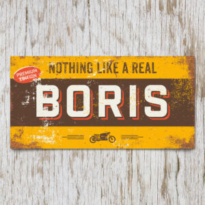 Naambord Kinderkamer Boris Bruin Geel
