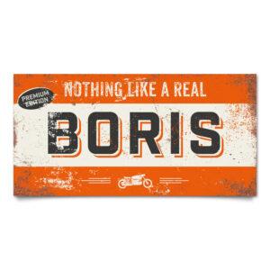 Naambord Kinderkamer Boris Oranje Zwart Wit