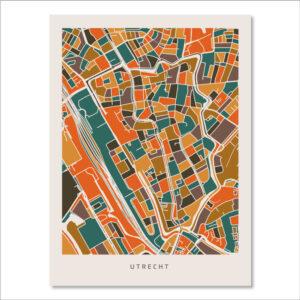 Poster Utrecht Stad – Oranje Bruin