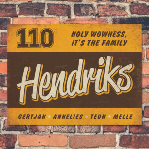 Naambord-Hendriks-voordeur-bruin-geel-wit-koenmeloen