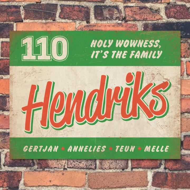 Naambord-Hendriks-voordeur-groen-wit-rood-koenmeloen