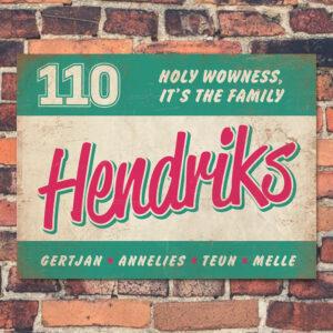 Naambord Hendriks Roze Mint Wit