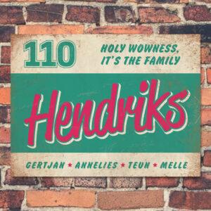 Naambord-Hendriks-voordeur-mint-wit-roze-koenmeloen