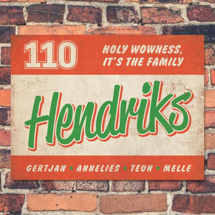 Naambord-Hendriks-voordeur-rood-wit-groen-koenmeloen