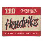 Naambord-Hendriks-voordeur-rood-wit-zwart-koenmeloen