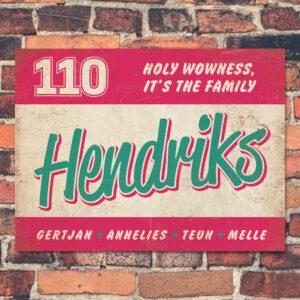 Naambord-Hendriks-voordeur-roze-mint-wit-koenmeloen
