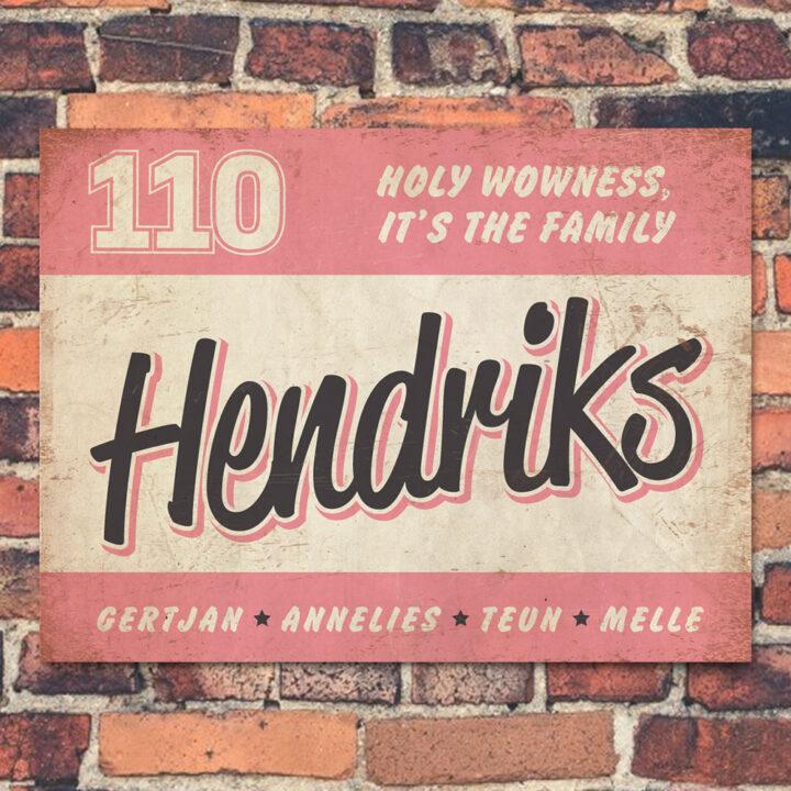 Naambord-Hendriks-voordeur-roze-zwart-wit-koenmeloen