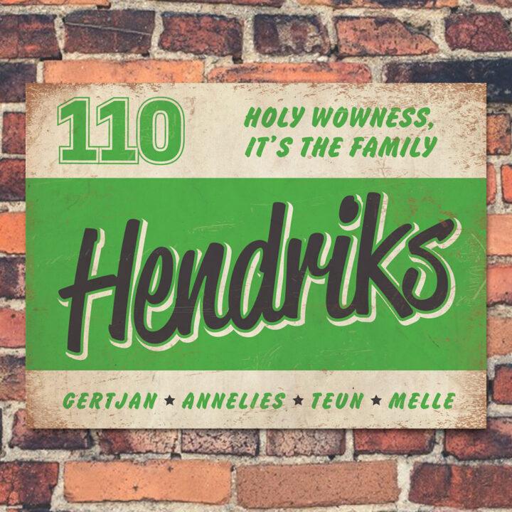 Naambord-Hendriks-voordeur-wit-groen-zwart-koenmeloen