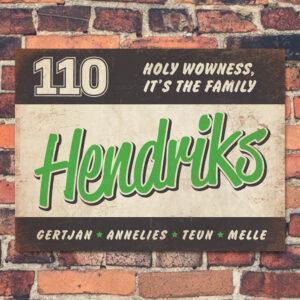 Naambord-Hendriks-voordeur-zwart-groen-wit-koenmeloen
