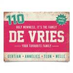 Naambord-de-Vries-voordeur-roze-wit-mint-koenmeloen