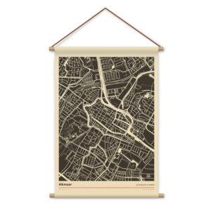 Alkmaar-mockup-textielposter-stadsplattegrond-schoolposter-witte-achtergornd-koenmeloen